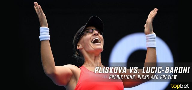 Karolina Pliskova vs. Mirjana Lucic-Baroni Predictions, Odds, Picks, and Tennis Betting Preview – 2017 Australian Open Quarterfinals