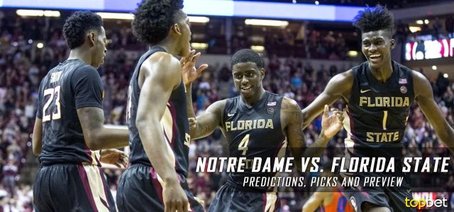 Notre Dame Fighting Irish vs. Florida State Seminoles Predictions, Picks, Odds and NCAA Basketball Betting Preview – January 18, 2017