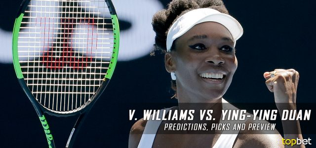 Venus Williams vs. Ying-Ying Duan Predictions, Odds, Picks And Tennis Betting Preview – 2017 Australian Open Third Round