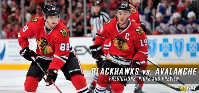 Chicago Blackhawks vs. Colorado Avalanche Predictions, Picks and NHL Preview – January 17, 2017