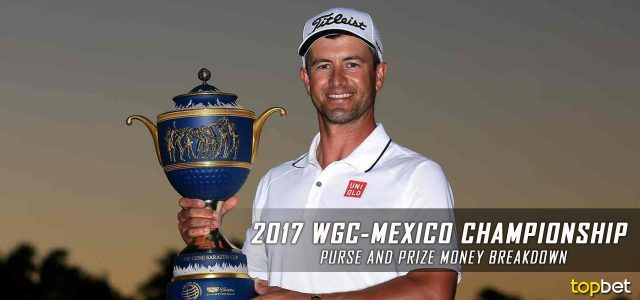2017 WGC-Mexico Championship Purse and Prize Money Breakdown