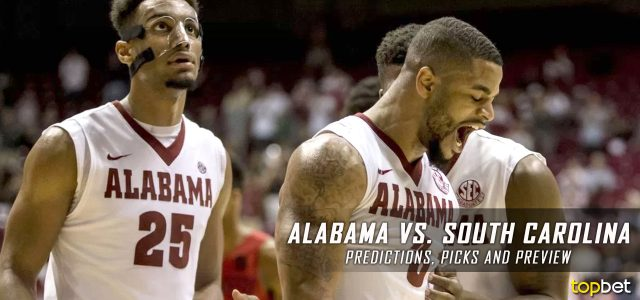 Alabama Crimson Tide vs. South Carolina Gamecocks Predictions, Picks, Odds and NCAA Basketball Betting Preview – February 7, 2017