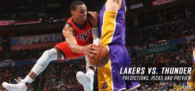Los Angeles Lakers vs. Oklahoma City Thunder Predictions, Picks and NBA Preview – February 24, 2017