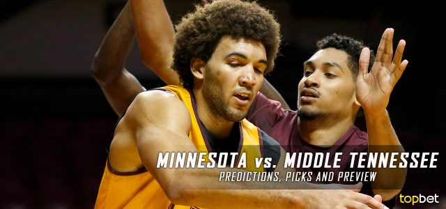 2017 March Madness Round of 64 – Minnesota Golden Gophers vs. Middle Tennessee Blue Raiders Predictions, Picks and NCAA Basketball Betting Preview