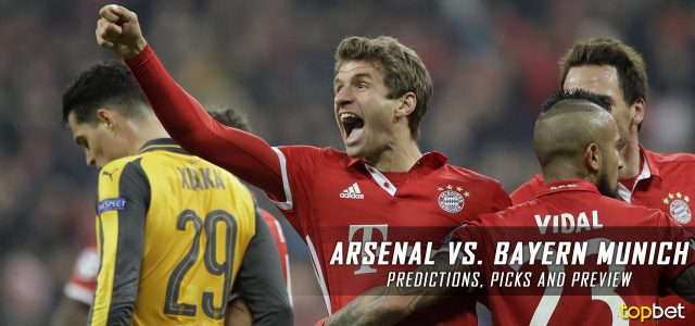 Arsenal vs. Bayern Munich Predictions, Picks, and Preview – UEFA Champions League Round of 16 Second Leg – March 7, 2017