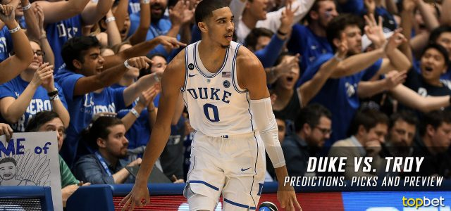 2017 March Madness Round of 64 – Duke Blue Devils vs. Troy Trojans Predictions, Picks and NCAA Basketball Betting Preview