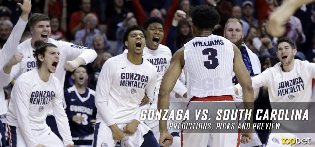 2017 March Madness Final Four – Gonzaga Bulldogs vs. South Carolina Gamecocks Predictions, Picks and NCAA Basketball Betting Preview