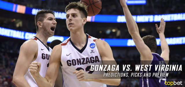 2017 March Madness Sweet 16 – Gonzaga Bulldogs vs. West Virginia Mountaineers Predictions, Picks and NCAA Basketball Betting Preview