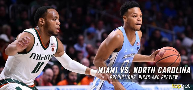 Image result for North Carolina vs Miami NCAAM  pic