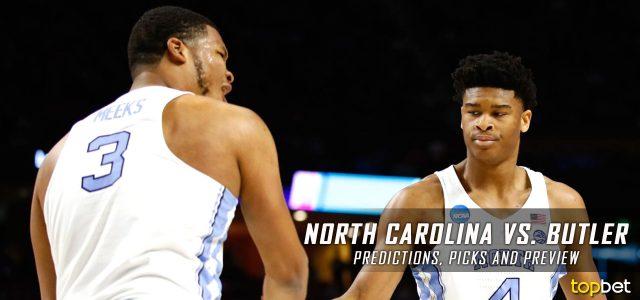 2017 March Madness Sweet 16 – North Carolina Tar Heels vs. Butler Bulldogs Predictions, Picks and NCAA Basketball Betting Preview