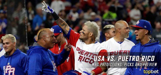 2017 World Baseball Classic – USA vs. Puerto Rico Predictions, Odds, Preview