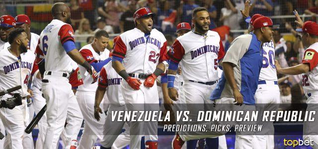 2017 World Baseball Classic – Venezuela vs. Dominican Republic Predictions, Odds, Preview
