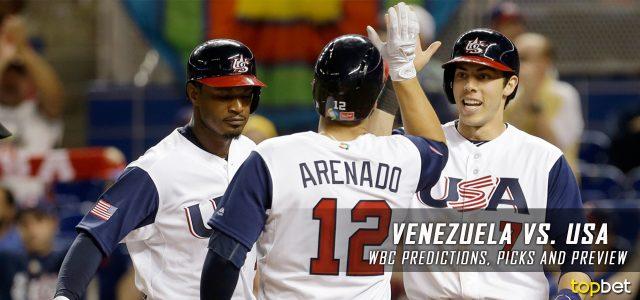 2017 World Baseball Classic – Venezuela vs. USA Predictions, Odds, Preview