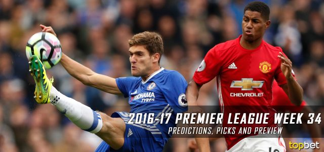 2016-17 Premier League Week 34 Predictions, Picks and Preview