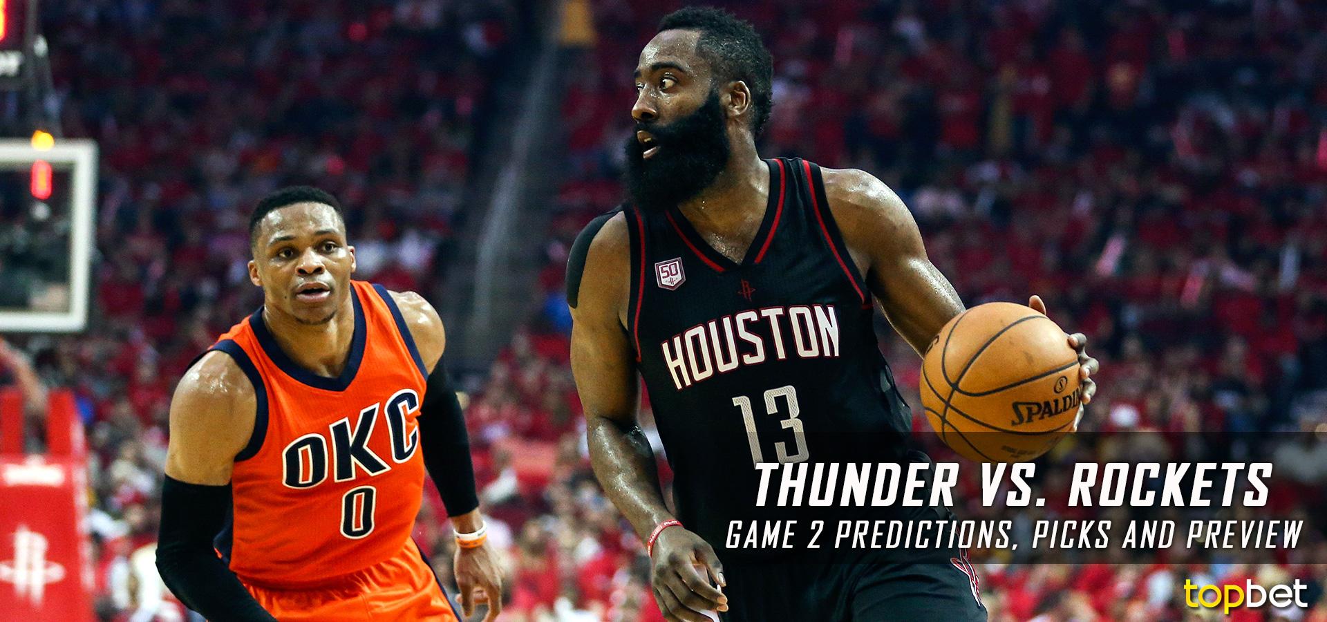 Thunder vs Rockets Series Game 2 Predictions, Picks & Preview