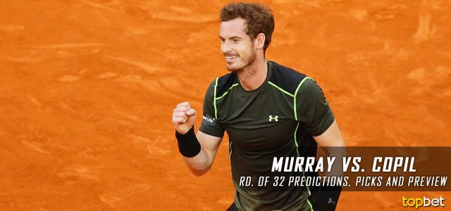 Andy Murray vs. Marius Copil Predictions, Odds, Picks and Tennis Betting Preview – 2017 Mutua Madrid Open Second Round