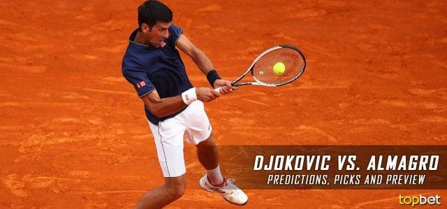 Novak Djokovic vs. Nicolas Almagro Predictions, Odds, Picks and Tennis Betting Preview – 2017 Mutua Madrid Open Second Round