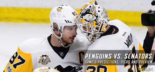 Pittsburgh Penguins vs. Ottawa Senators Predictions, Picks and Preview – 2017 Stanley Cup Playoffs – Eastern Conference Finals Game Six