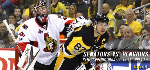 Ottawa Senators vs. Pittsburgh Penguins Predictions, Picks and Preview –  2017 Stanley Cup Playoffs