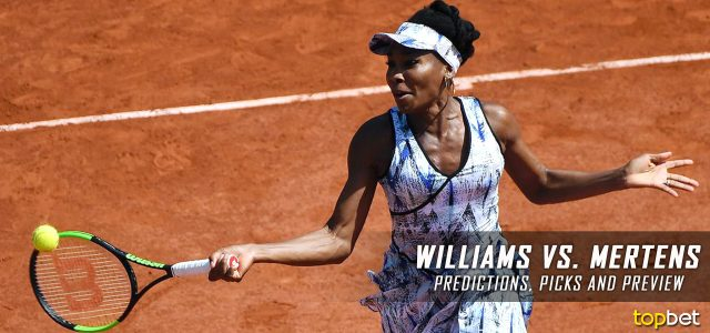 Venus Williams vs. Elise Mertens Predictions, Odds, Picks and Tennis Betting Preview – 2017 French Open Third Round