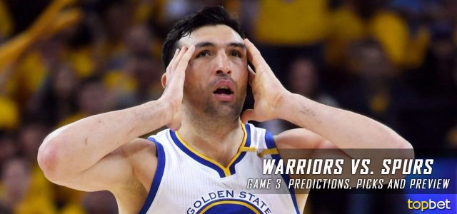 Golden State Warriors vs. San Antonio Spurs Predictions, Picks and Preview – 2017 NBA Playoffs – Western Conference Finals Game Three