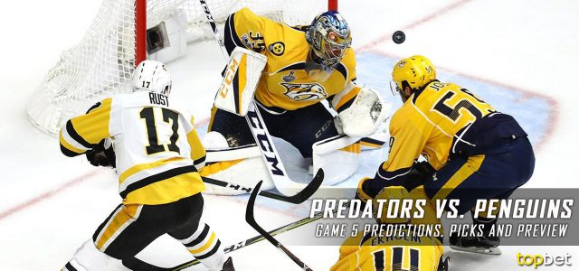 Nashville Predators vs. Pittsburgh Penguins Predictions, Picks, Odds and Preview – 2017 Stanley Cup Final Game Five