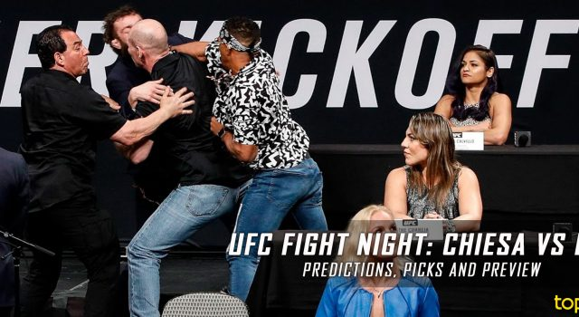 UFC Fight Night 112: Chiesa vs. Lee Predictions, Picks and MMA Betting Preview – June 25, 2017