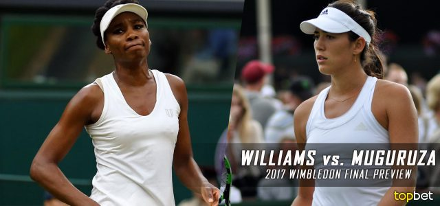 Venus Williams vs. Garbine Muguruza Predictions, Odds, Picks and Tennis Betting Preview – 2017 Wimbledon Women's Singles Final