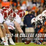 The 2017-2018 College Football Schedule Key Dates for NCAA Football