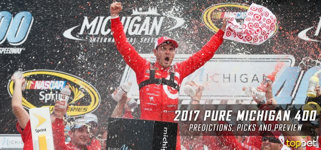Pure Michigan 400 Predictions, Picks, Odds and Betting Preview: 2017 NASCAR Monster Energy Cup Series