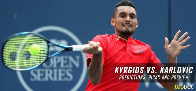 Nick Kyrgios vs. Ivo Karlovic Predictions, Odds, Picks, and Tennis Betting Preview – 2017 ATP Western & Southern Open Third Round