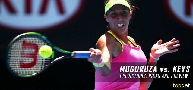 Garbine Muguruza vs. Madison Keys Predictions, Odds, Picks, and Tennis Betting Preview – 2017 Western & Southern Open Round of 16