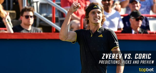 Alexander Zverev vs. Borna Coric Predictions, Odds, Picks, and Tennis Betting Preview – 2017 ATP US Open Second Round