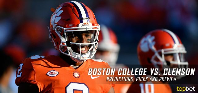 Boston College Eagles vs. Clemson Tigers Predictions, Picks, Odds, and NCAA Football Week Four Betting Preview – September 23, 2017