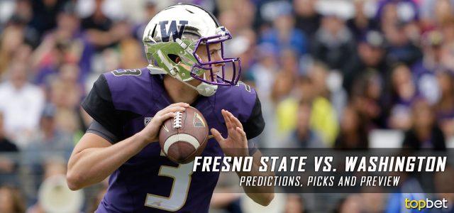 Fresno State Bulldogs vs. Washington Huskies Predictions, Picks, Odds and NCAA Football Week Three Betting Preview – September 16, 2017