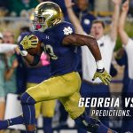 Georgia Bulldogs vs. Notre Dame Fighting Irish Predictions, Picks, Odds, and NCAA Football Week Two Betting Preview – September 9, 2017