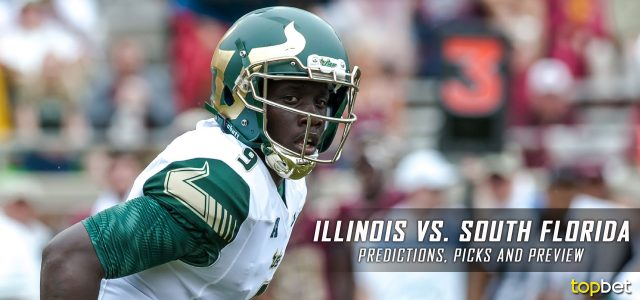 Illinois Fighting Illini vs. South Florida Bulls Predictions, Picks, Odds and NCAA Football Week Three Betting Preview – September 15, 2017
