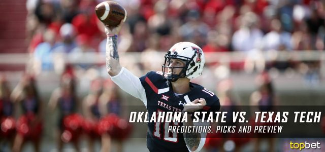 Oklahoma State Cowboys vs. Texas Tech Red Raiders Predictions, Picks, Odds and NCAA Football Week Five Betting Preview – September 30, 2017