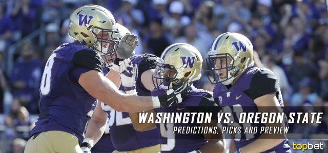 Washington Huskies vs. Oregon State Beavers Predictions, Picks, Odds and NCAA Football Week Five Betting Preview – September 30, 2017