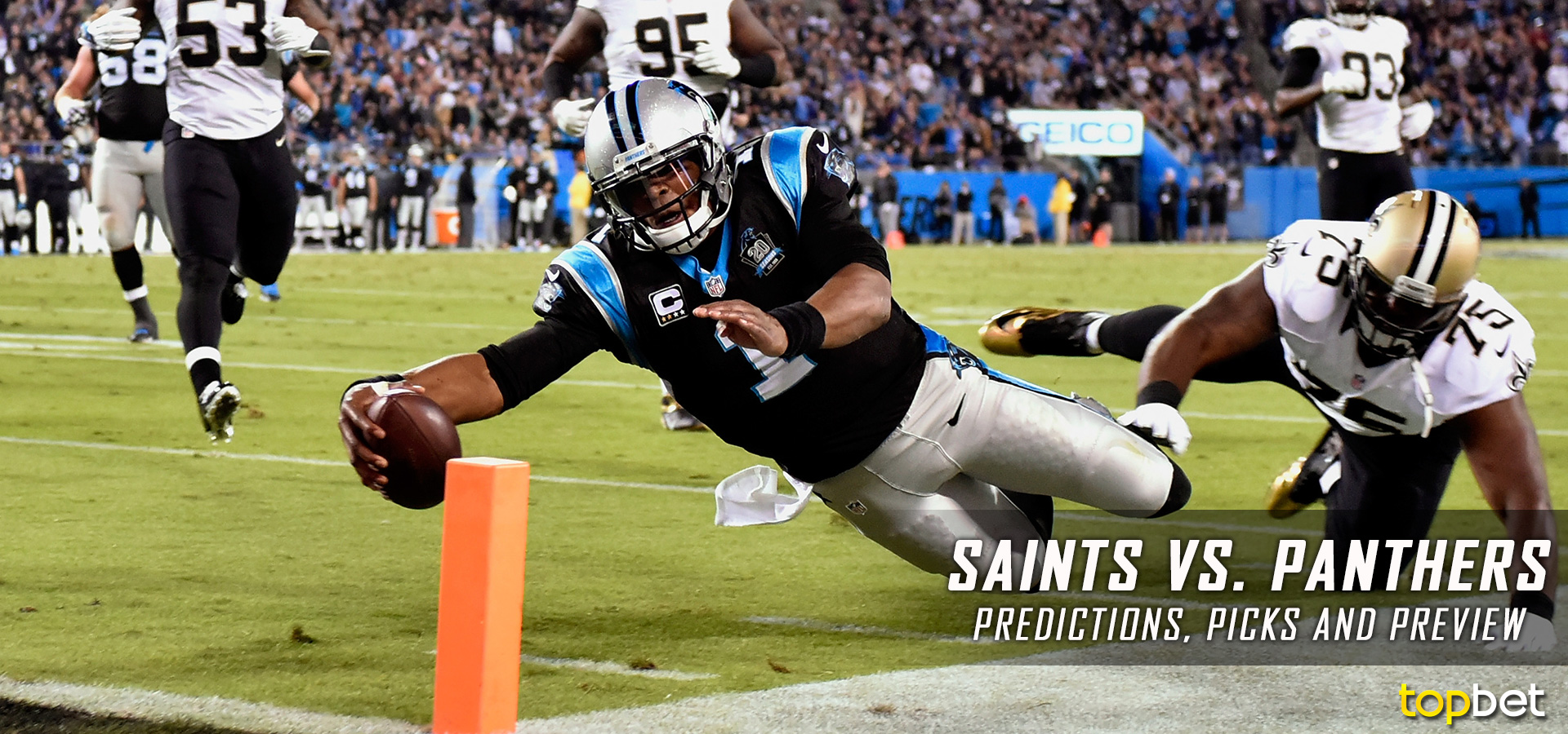 Image result for Panthers vs Saints nfl pic