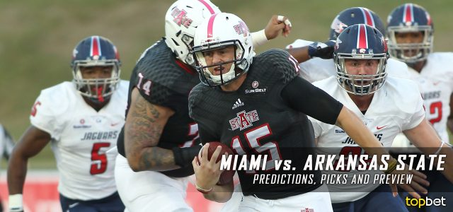 Miami Hurricanes vs. Arkansas State Red Wolves Predictions, Picks, Odds, and NCAA Football Week Two Betting Preview – September 9, 2017