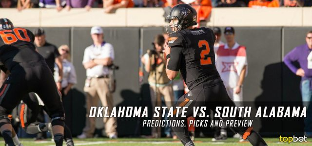 Oklahoma State Cowboys vs. South Alabama Jaguars Predictions, Picks, Odds, and NCAA Football Week Two Betting Preview – September 8, 2017