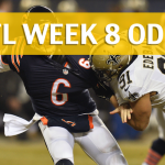 Chicago Bears vs New Orleans Saints Predictions, Picks, Odds and Betting Preview – NFL Week 8 2017