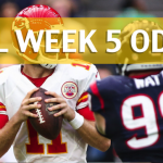 Kansas City Chiefs vs Houston Texans Predictions, Picks, Odds and Betting Preview – NFL Week 5 2017