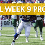 NFL Week 9 Prop Bets and Player Props: 2017-18 Season