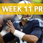 NFL Week 11 Prop Bets and Player Props: 2017-18 Season
