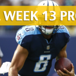 NFL Week 13 Prop Bets and Player Props: 2017-18 Season