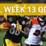 Pittsburgh Steelers vs Cincinnati Bengals Predictions, Picks, Odds and Betting Preview – NFL Week 13 2017