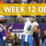 Minnesota Vikings vs Detroit Lions Predictions, Picks, Odds and Betting Preview – NFL Week 12 2017
