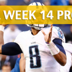 NFL Week 14 Prop Bets and Player Props: 2017-18 Season